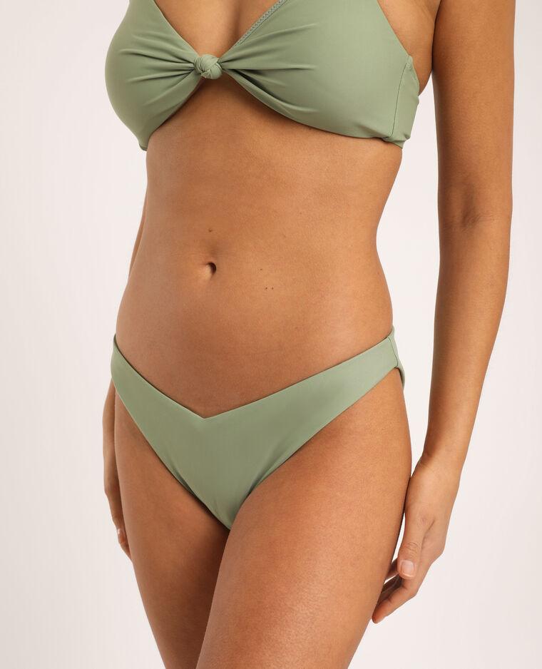Bas de bikini échancré vert clair - Pimkie