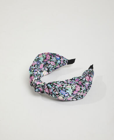 Serre-tête fleuri noir - Pimkie