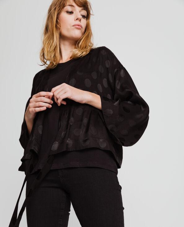 Kimono satiné noir
