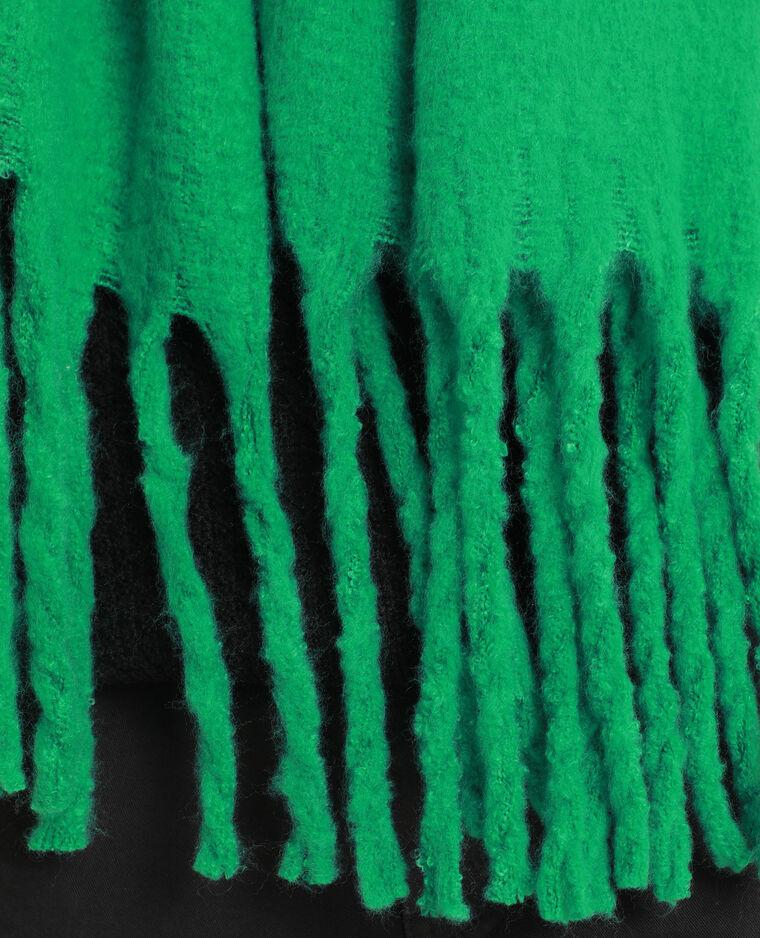 Echarpe épaisse à grandes franges vert