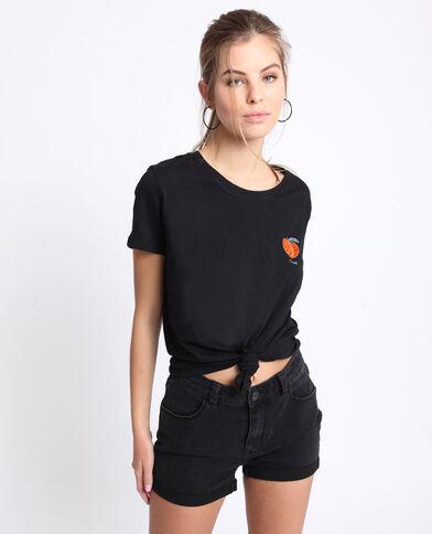 T-shirt brodé noir