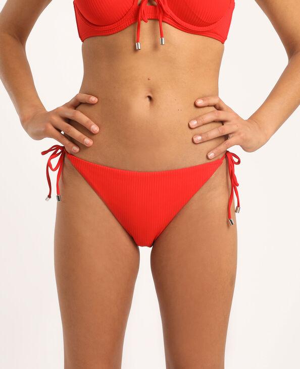 Bas de bikini échancré rouge