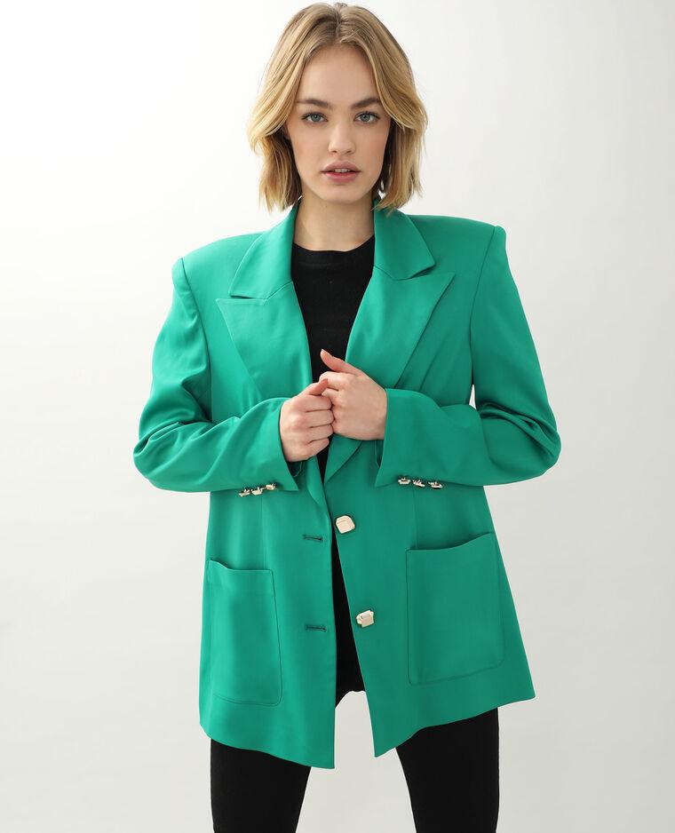 Veste longue vert - Pimkie