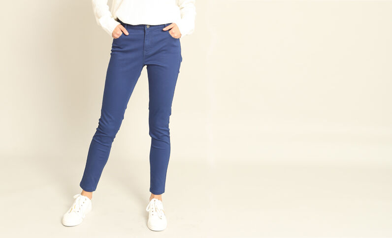 Skinny push up bleu foncé