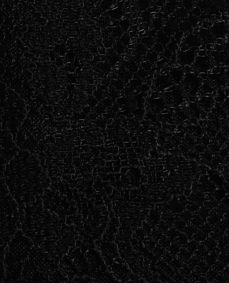 Top court en dentelle noir