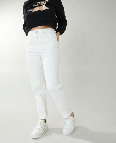 Jean straight high waist vert
