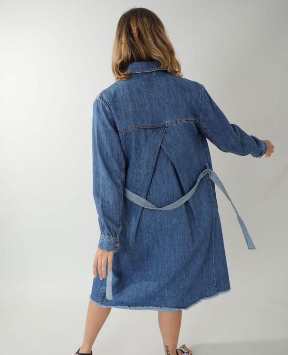 Surchemise longue en jean ceinturée bleu - Pimkie