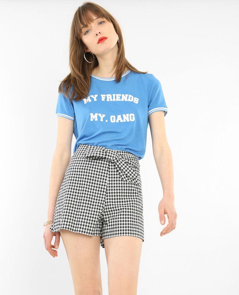 T-shirt message bleu