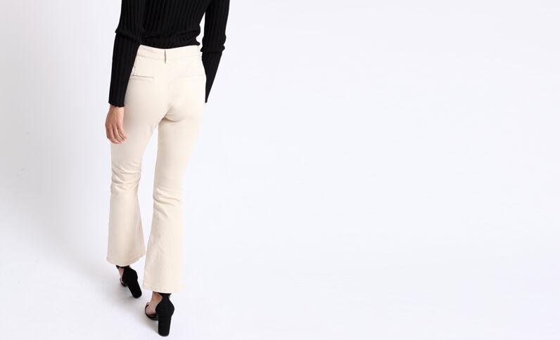Pantalon flare beige