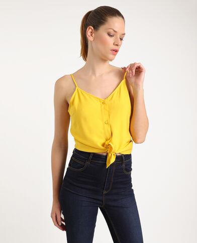 Top à boutons jaune