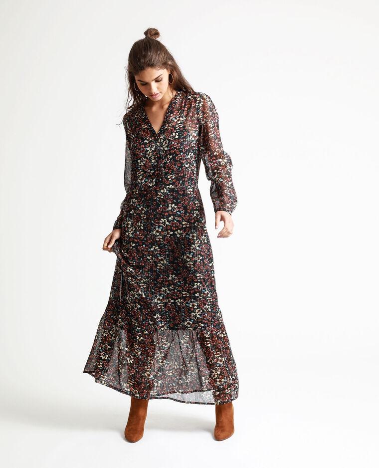 Robe Longue A Fleurs Noir 781354899i08 Pimkie