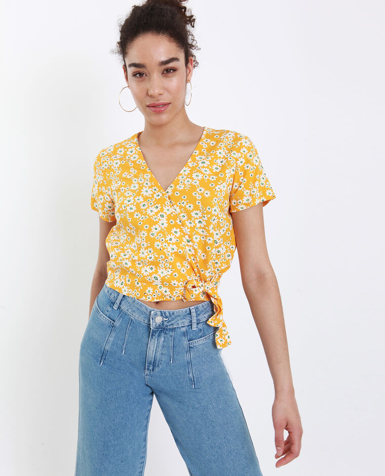 Blouse fleurie jaune