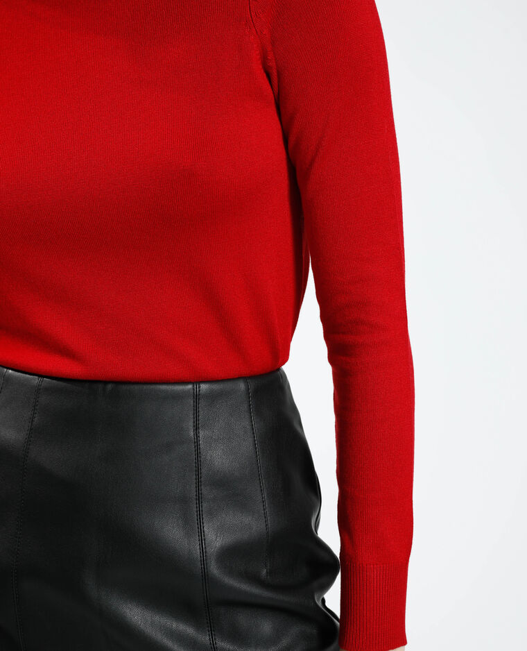 Jupe courte en simili cuir noir - Pimkie