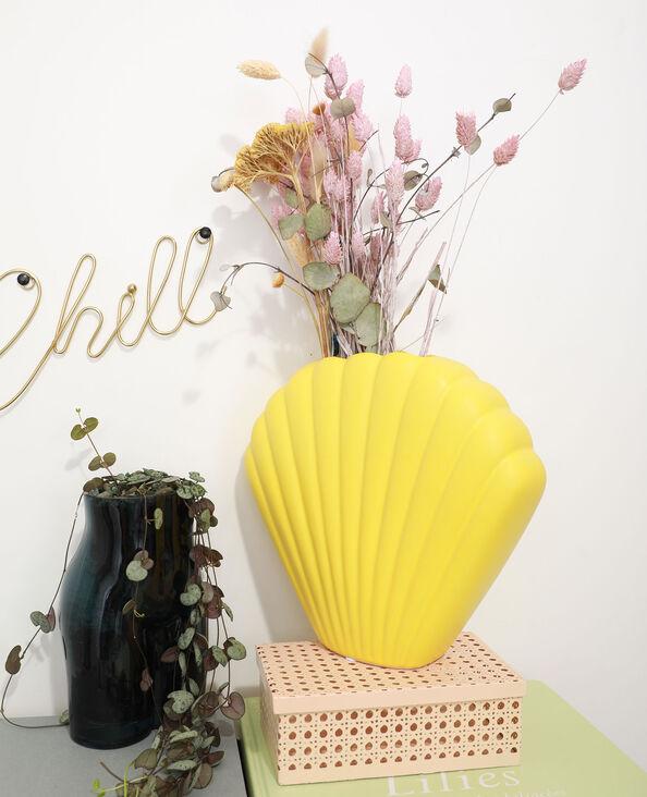 Vase coquillage grand jaune - Pimkie