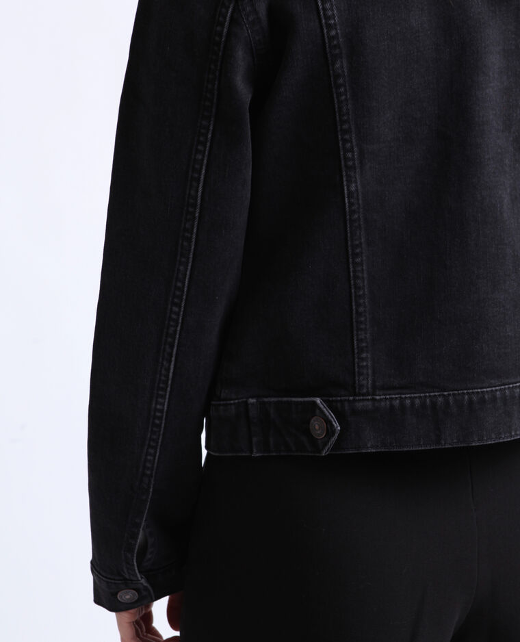 Veste en jean noir