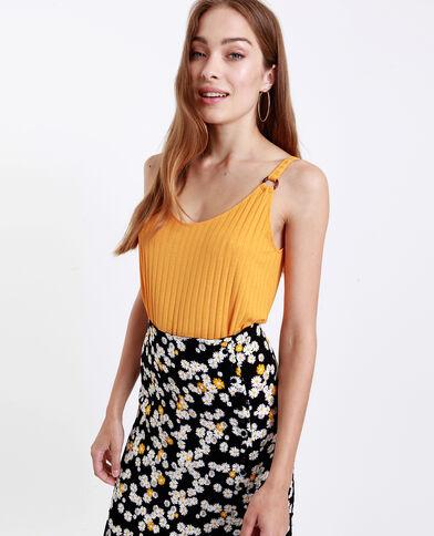 Top à bretelles jaune - Pimkie