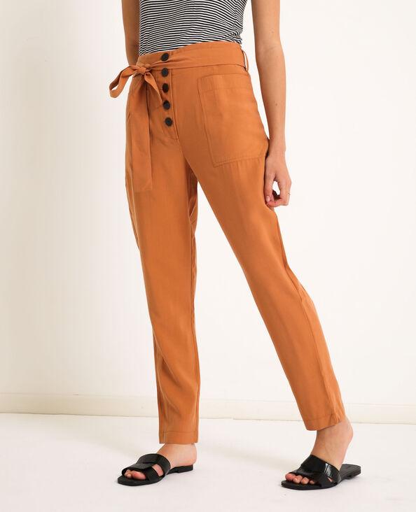 Pantalon fluide terracotta