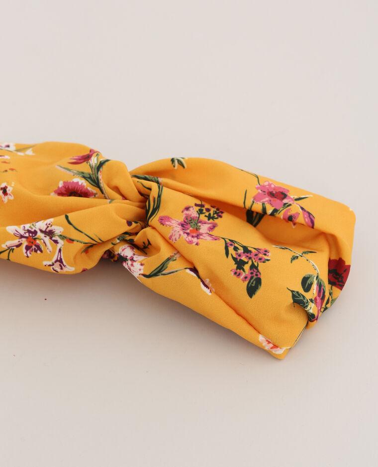 Headband fleuri jaune