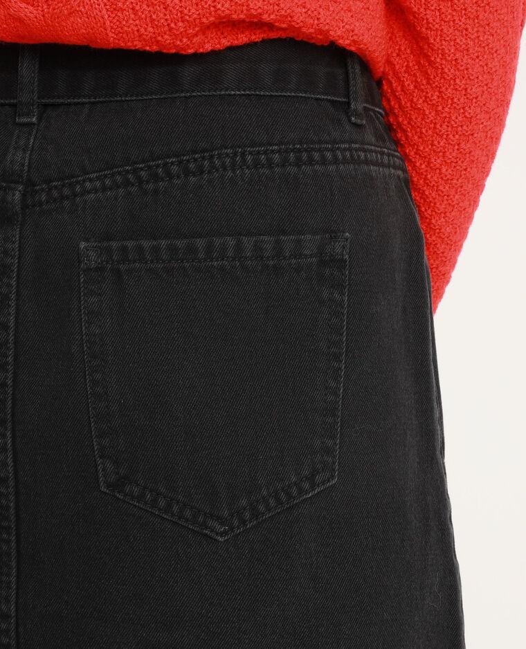 Jupe en jean ceinturée noir
