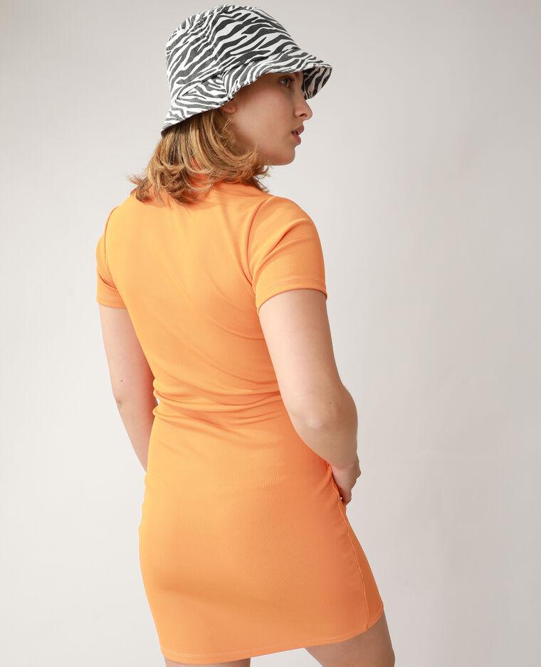 Robe polo côtelée orange - Pimkie
