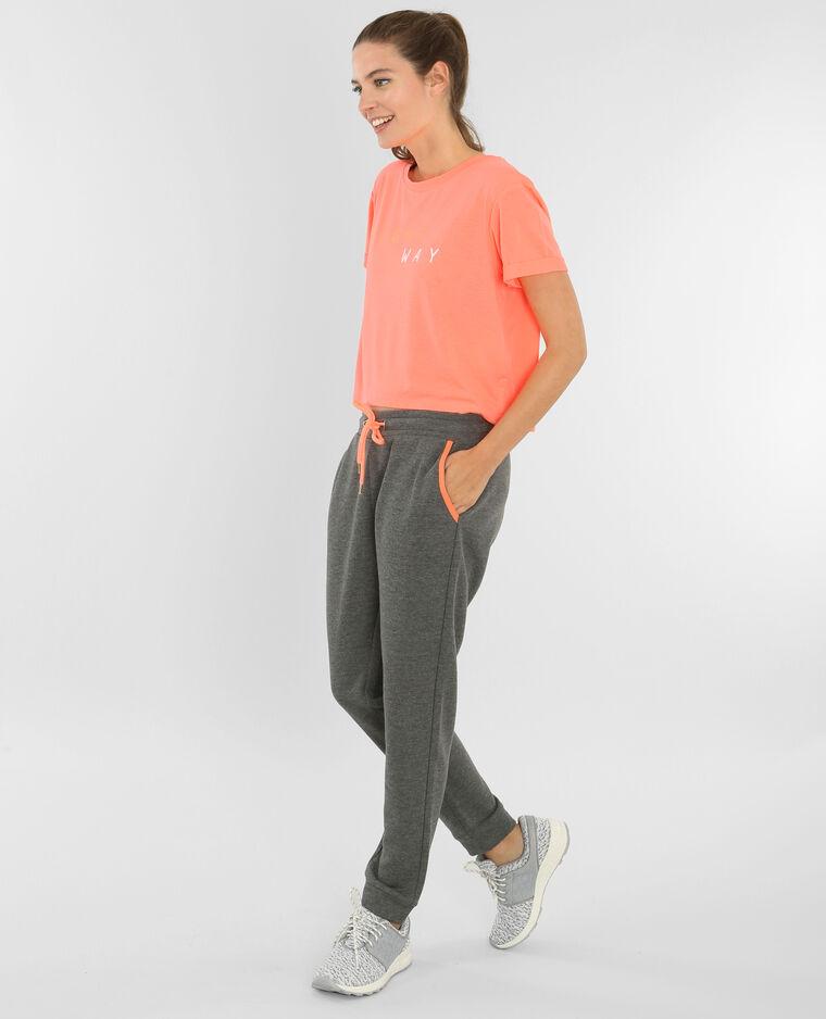 T-shirt cropped sport orange