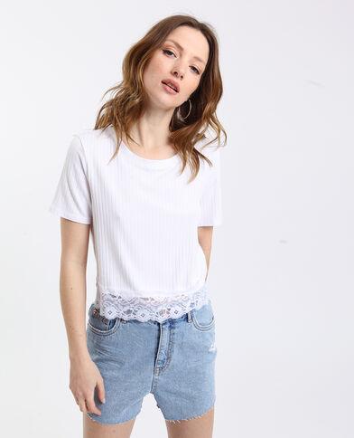 aec0e5ab48263 T-shirt dentelle blanc
