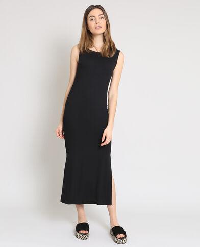 Robe longue moulante noir