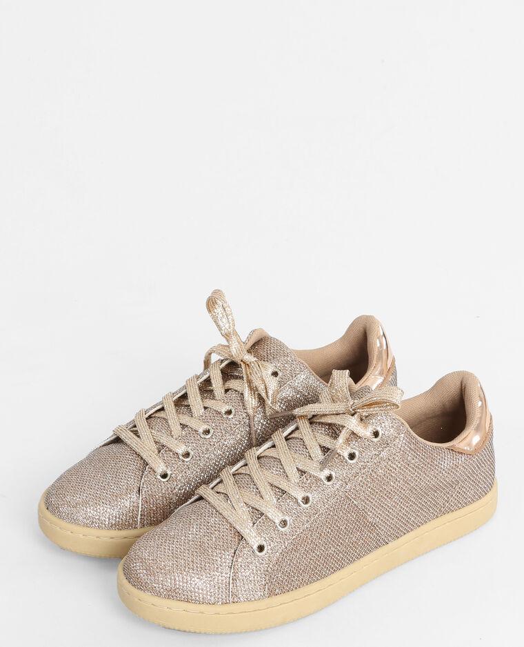 Baskets glitter doré