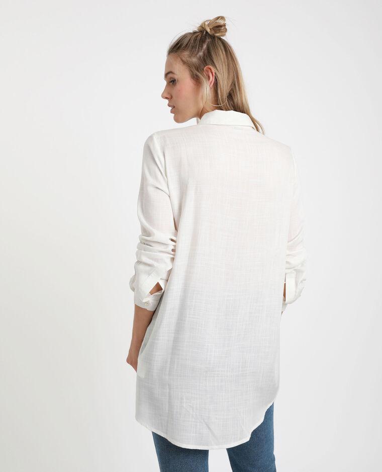 Chemise longue blanc cassé