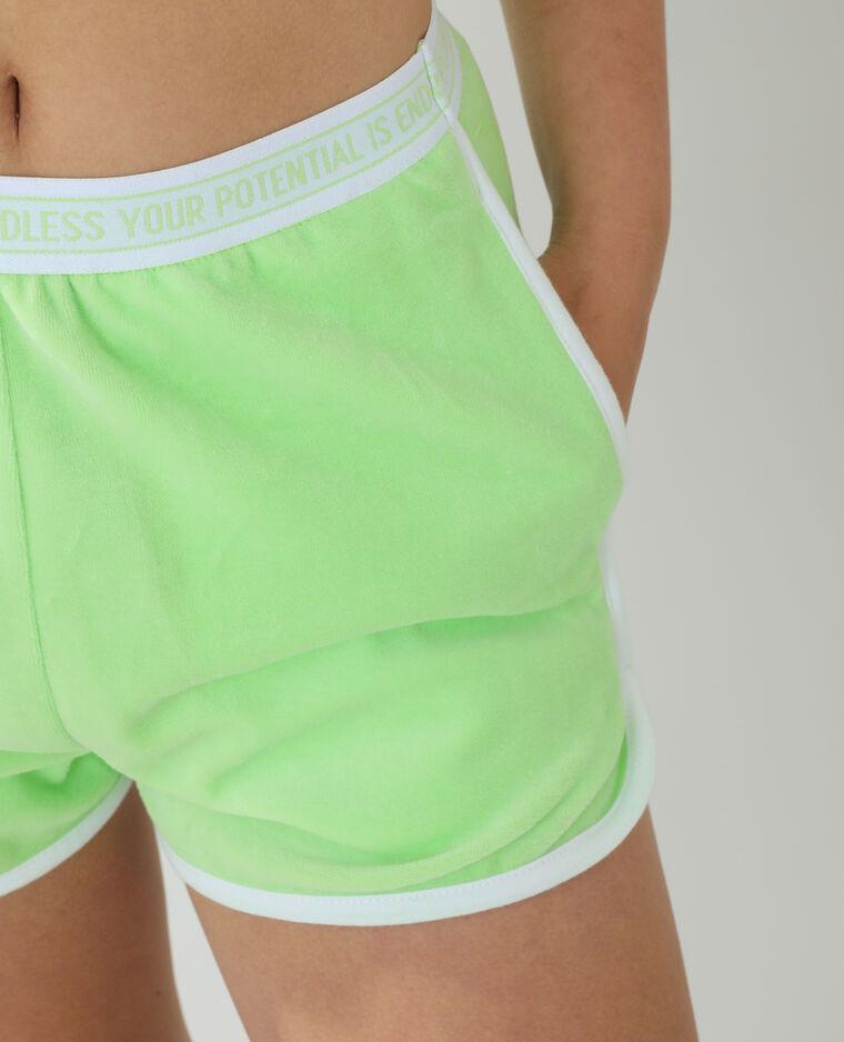 Short en velours vert - Pimkie
