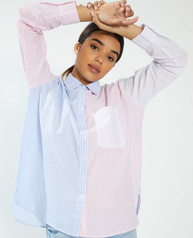 Chemise bicolore rayée rose - Pimkie