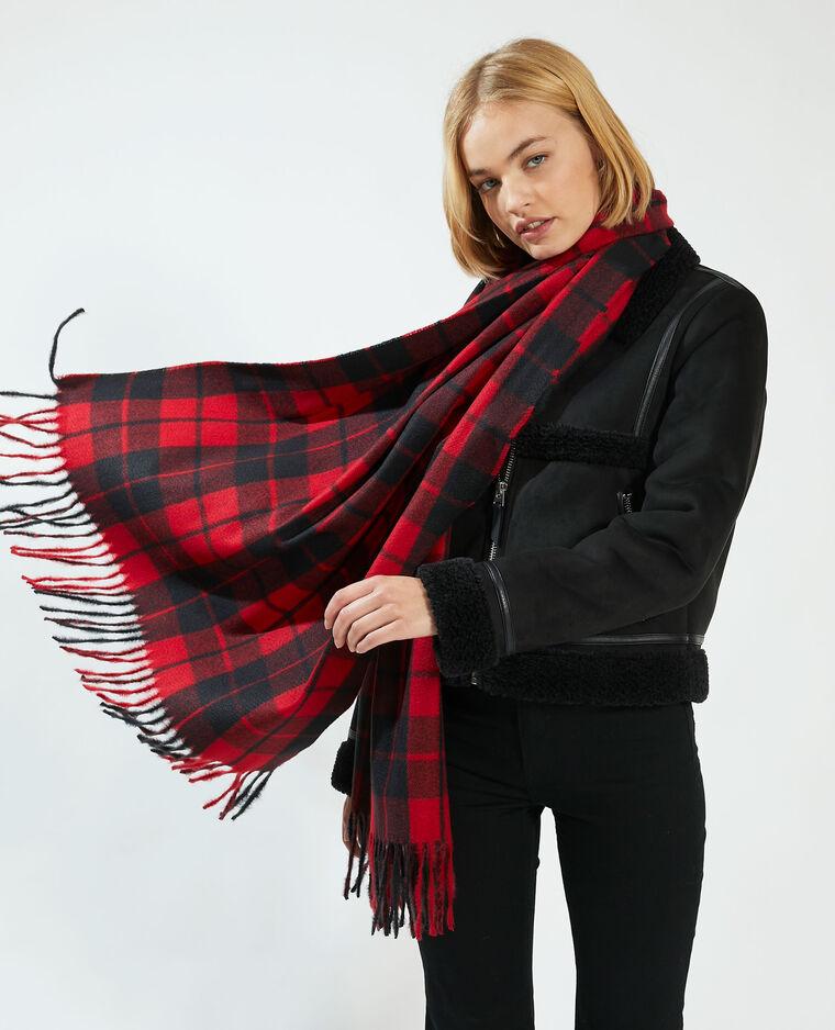 Echarpe à carreaux rouge - Pimkie