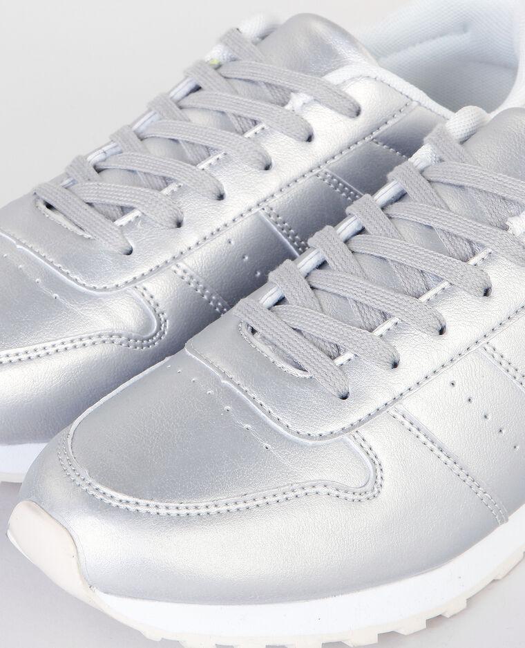 Baskets mode métallisées gris - Pimkie