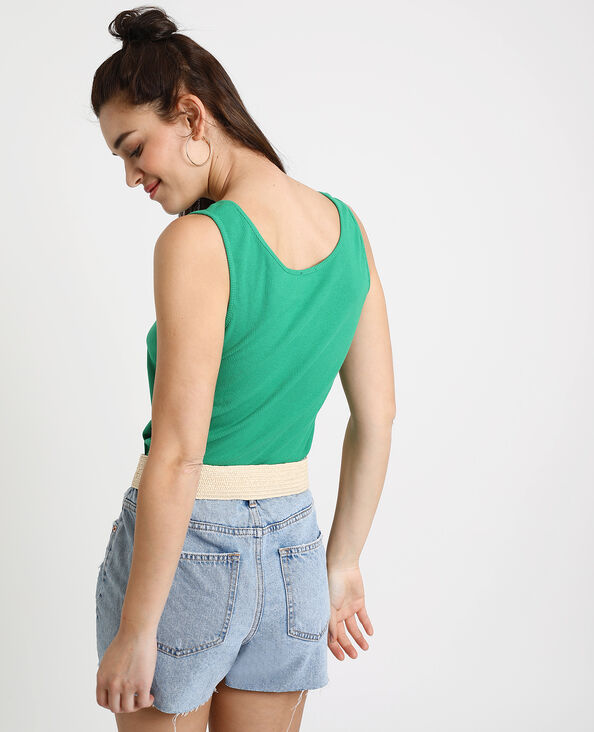 Débardeur texturé vert