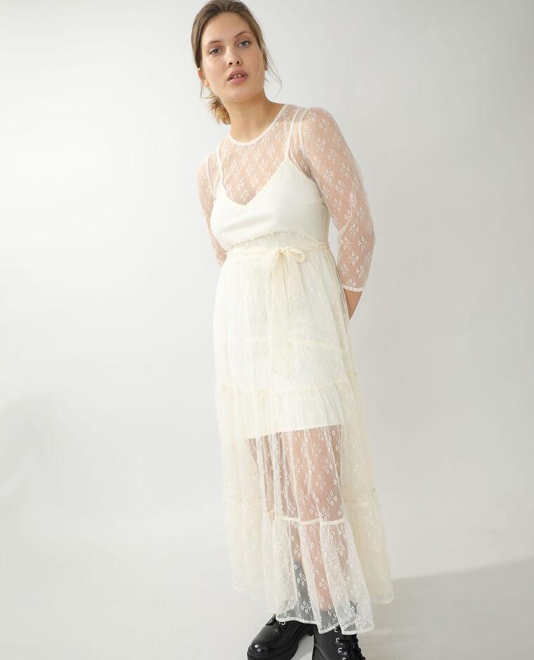Robe longue en dentelle blanc - Pimkie