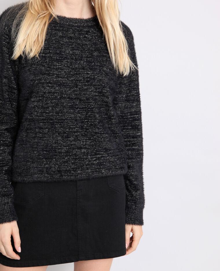 Pull bicolore noir