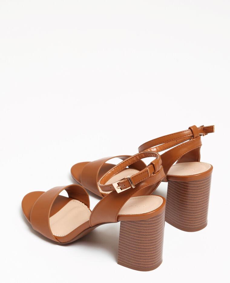 Sandales à talons larges marron