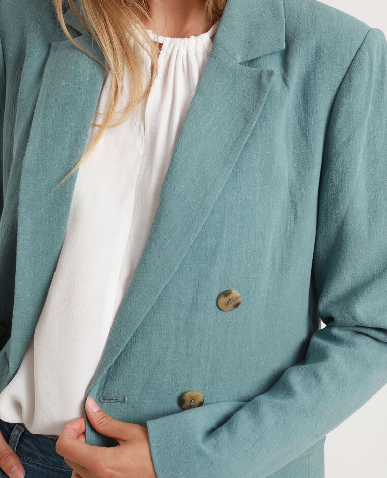 Blazer double boutonnage bleu