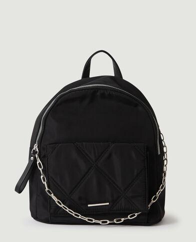 Mini sac à dos à chaîne noir - Pimkie