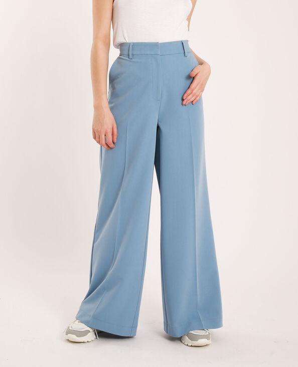 Pantalon à jambes larges bleu ciel