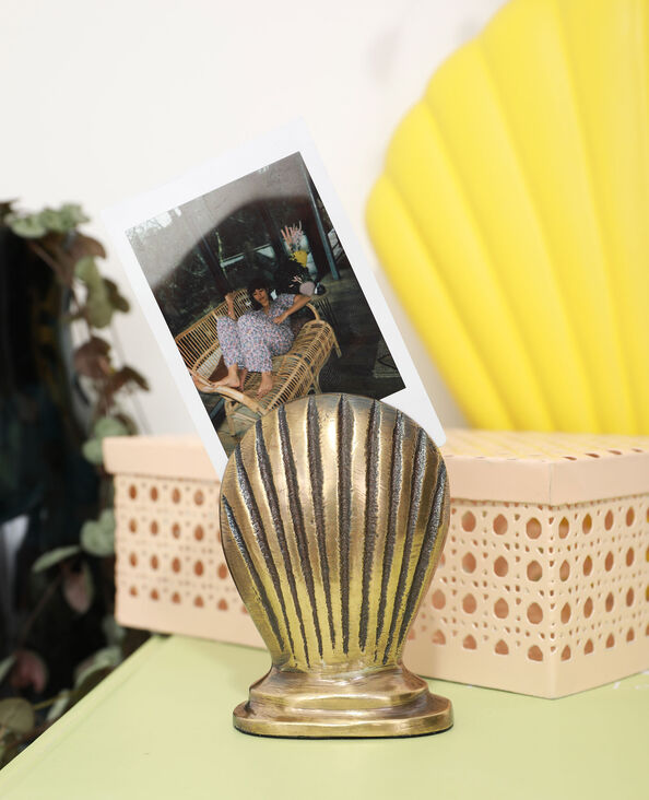 Porte-photo coquillage doré - Pimkie