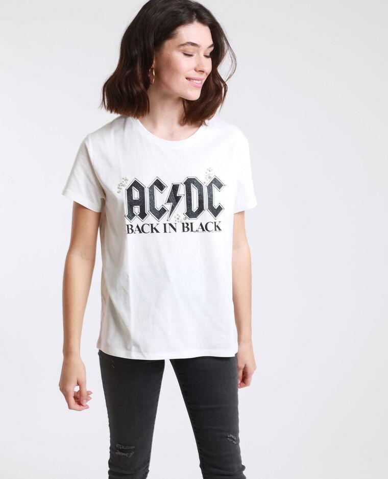 T-shirt AC/DC blanc