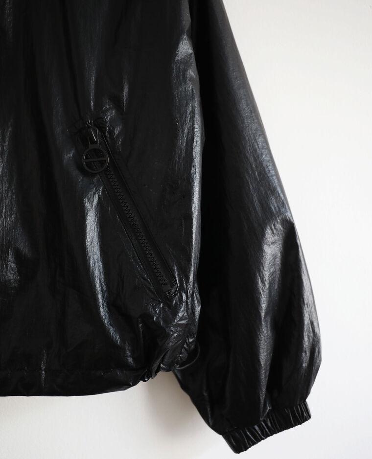 Coupe vent à capuche noir