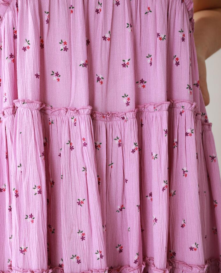 Robe longue fleurie mauve - Pimkie