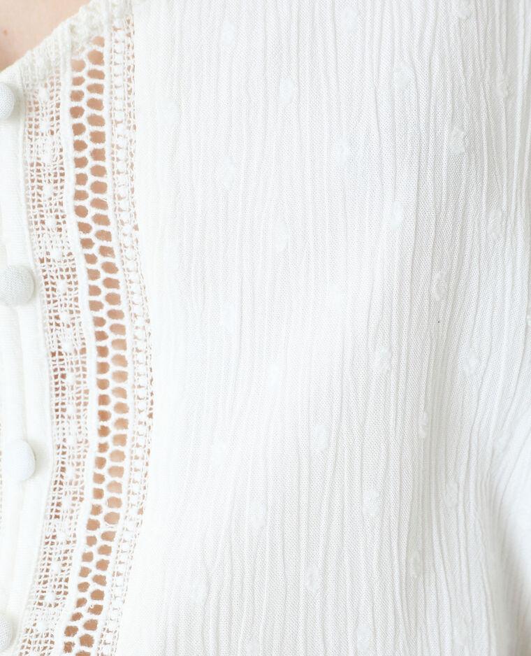 Top plumetis blanc cassé - Pimkie