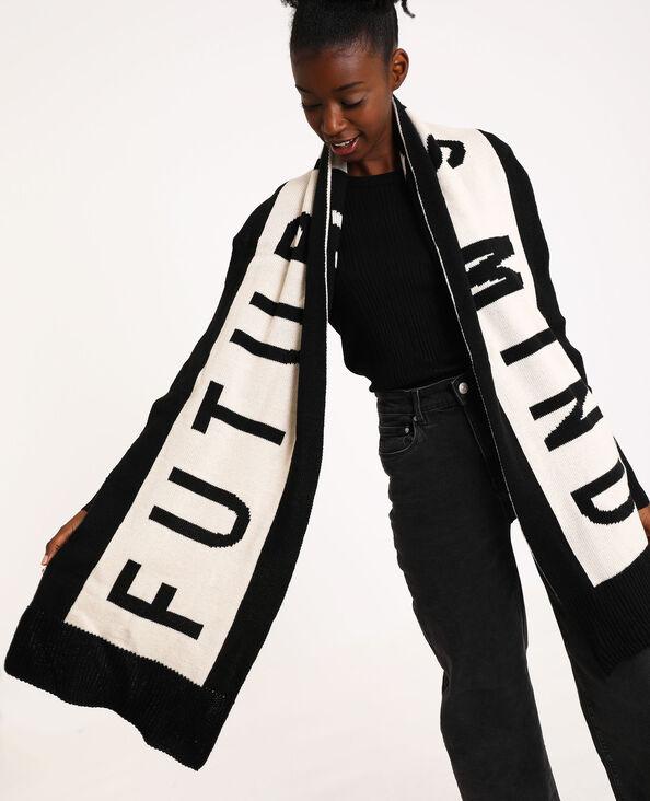 Echarpe Future is mind noir