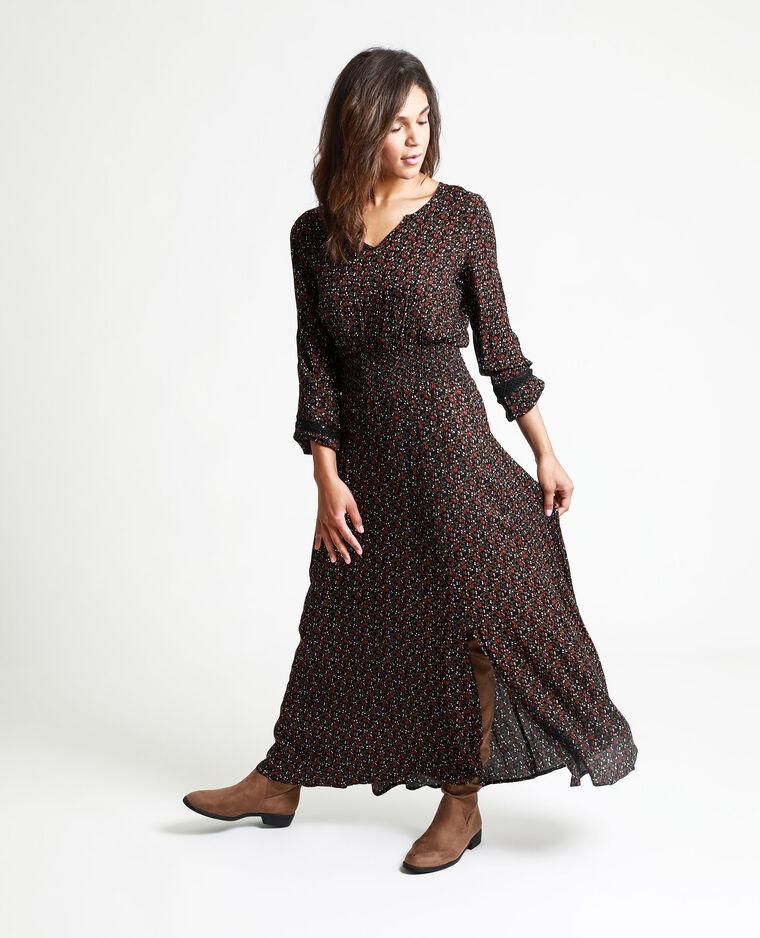Robe longue fleurie noir - Pimkie
