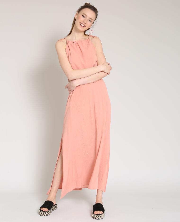 Robe longue rose pâle