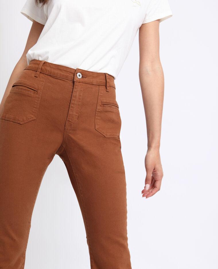 Pantalon flare caramel