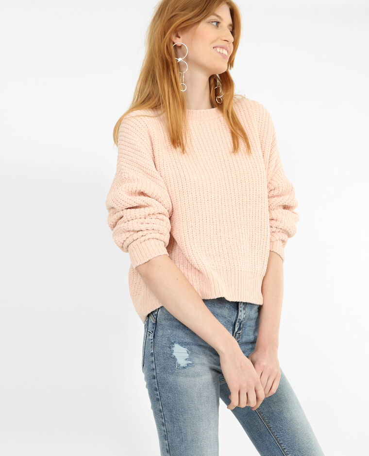 Pull en maille chenille rose - 403907I03A02   Pimkie 70bf898e859c